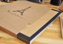 A4 Eiffel Tower Design ALBUM Kraft Paper DIY Photo Album 2sets/lot Free shipping(Hong Kong)