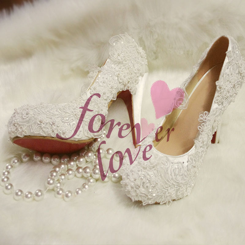 Здесь можно купить  Fashion handmade red white lace pearl rhinestone stone wedding shoes banquet shoes high-heeled shoes  Обувь