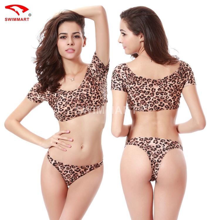 Free shipping Sexy leopard bikini piece suit of high-grade nylon split swimsuit Ladies Swimsuit Ladies' Sexy Bikini(China (Mainland))