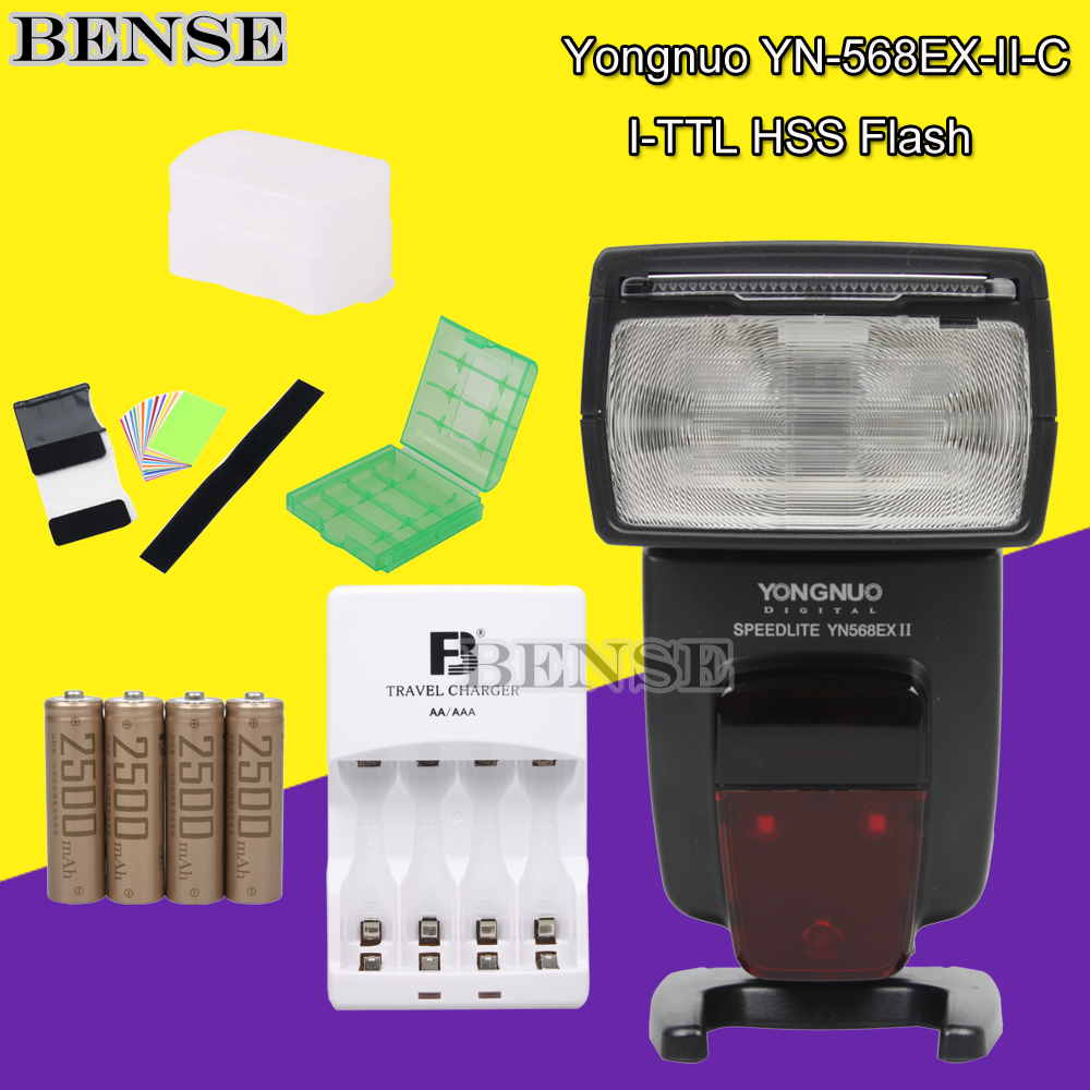 YONGNUO YN-568EX II Support HSS E-TTL Flash Speedlite+AA/2500Mah charging suit For canon(China (Mainland))