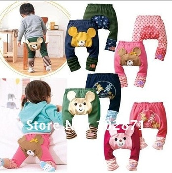 retail ! 2015 NEW children's wear leggings autumn baby cotton PP pants legging pants gift  baby clothes
