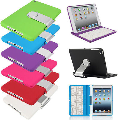 Brand New Cover Case with Swivel Rotary Stand + Bluetooth Wireless Keyboard for iPad mini(China (Mainland))