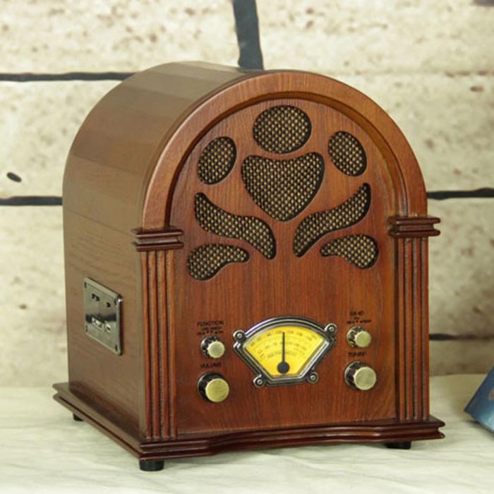wool vintage desktop radio cd machine mp3 card usb speaker Good quality multifunction utility classical retro radio(China (Mainland))