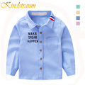 Kindstraum 2017 Spring Autumn Boys Shirts Cotton Casual Children s Clothes Oxford Letter Kids Long Sleeve