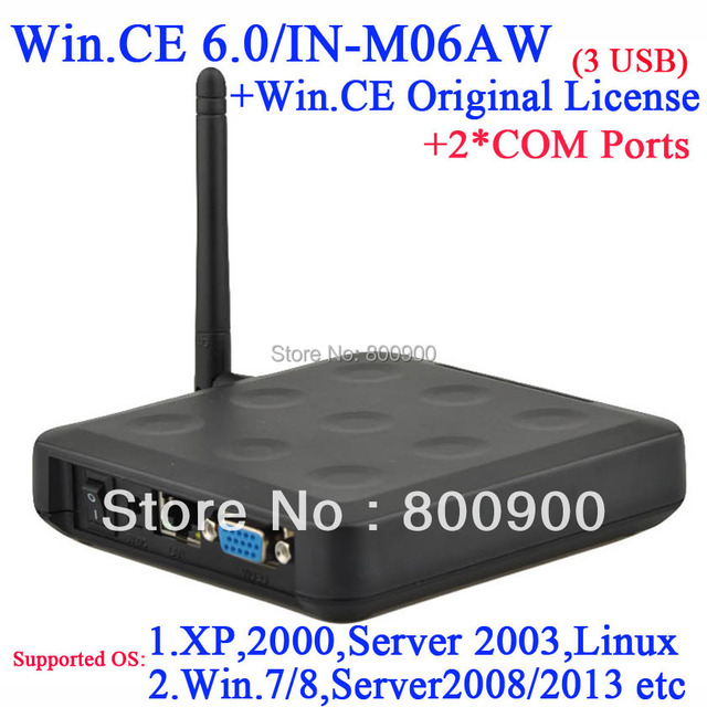 N380W thin station with linux support customized 2 RS232 original WIN.CE 6.0 COA turn one server into multiple computers via RDP