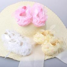 Sweet Lace Toddler Girl Baby Shoes Infant Girl Non-Slip Princess Shoes Prewalker Shoes #8Z314 5pair/lot(China (Mainland))