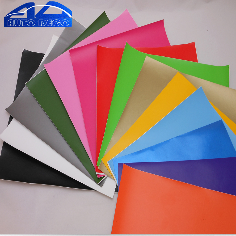 1.52*3/5/10/15m Retail Matte Vinyl Film Sticker Vinyl Car Wrap Roll Matt Black Red 16 Colors Option FedEx Fastest Free Shipping(China (Mainland))