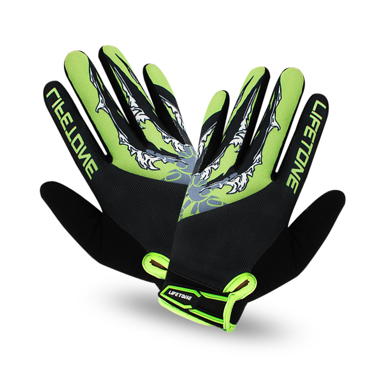 New Arival Bike Cycling Gloves Sport Equipment Men And Women Bicycle Riding Full Finger Anti-shocked Gloves Green<br><br>Aliexpress