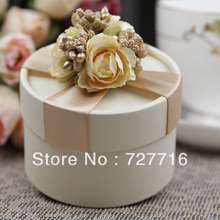10PCS/LOT PAPER gift box champagne Wedding Favor Boxes party candy box - Free shipping(China (Mainland))