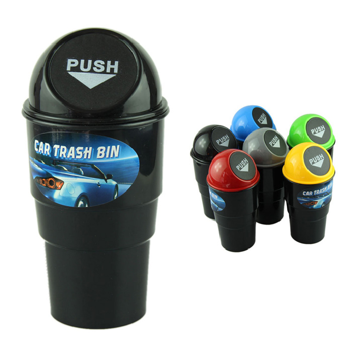 Best seller NEW car garbage can Car Trash Can Garbage Dust Case Holder Bin(China (Mainland))