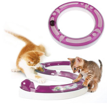 Free Shipping New Fun Cat Pet Dog Baby Track and Ball Toys Chase Game Hagen Catit Design Senses Play Circuit(China (Mainland))