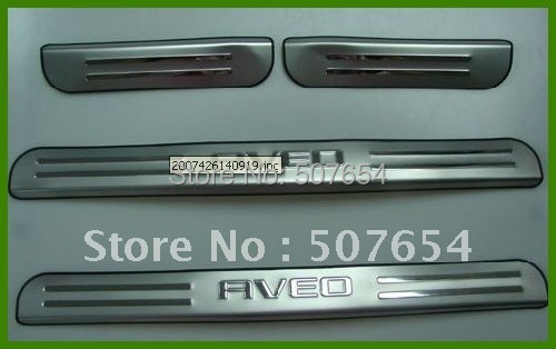 Free Shipping! JUST COOL! CHERVOLET AVEO 2011 duel tone door sills/door  footplate(High quality stainless steel)<br><br>Aliexpress