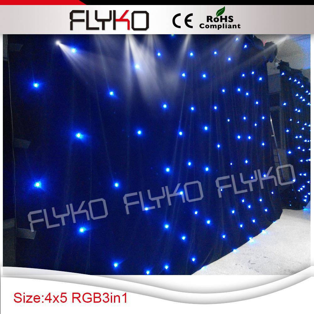 Free shipping controller system 4m by 5m led star backdrop stage led screen(China (Mainland))