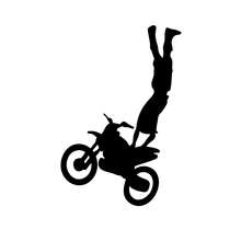 40 pcs/lot Freestyle Motocross Bike Off-road Motorcycle Sport Decal Vinyl Sticker Wall Window Truck SUV Car Bumper 8 Colors(China (Mainland))