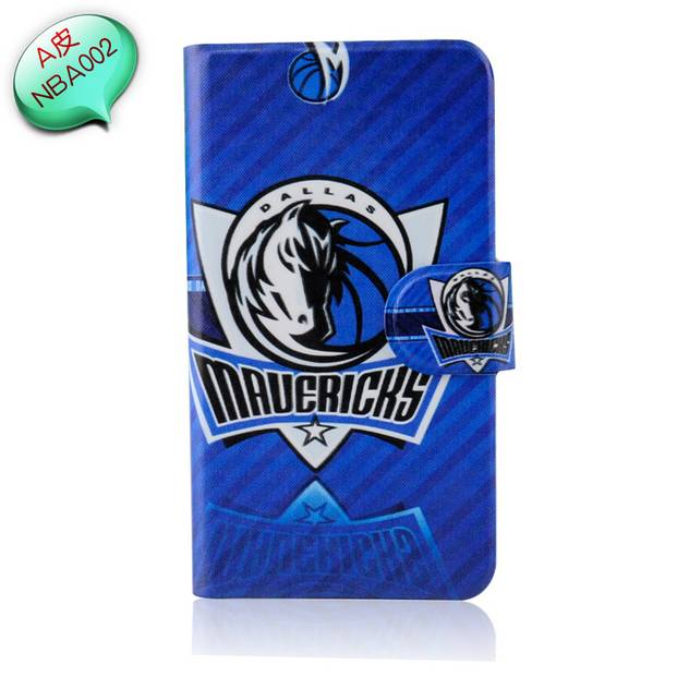 2014 Hot NBA basketball Badge Wolf ball lakers logo spurs PU leather case cover for HTC ONE SU T528W T529W(China (Mainland))