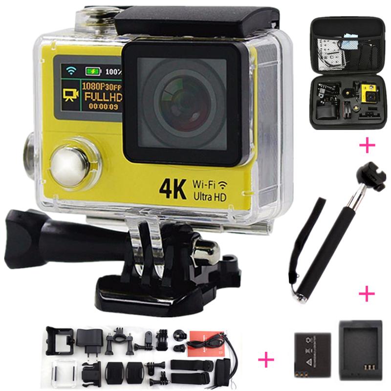 Original Eken H3 Action camera Ultra HD 4K WiFi Video Sport Camera 2.0 inch Dual Screen Mini Camcorder go waterproof pro camera(China (Mainland))