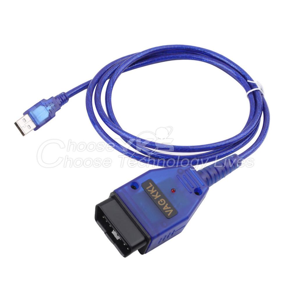 VAGCOM USB KKL Cable For AUDI for Volkswagen OBD2 OBDII Car Diagnostic Scanner Free / Drop Shipping