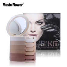 Perfect Cover 5 Colors Kit Concealing Shading Powder Flawless Foundation Base Cover Skin Imperfection Concealer Makeup Palette(China (Mainland))