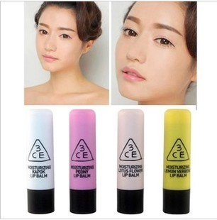 free shippiing 1lot=10pcs New arrival 3ce 8895 moisturizing lip balm moisturizing lip balm achromatous(China (Mainland))