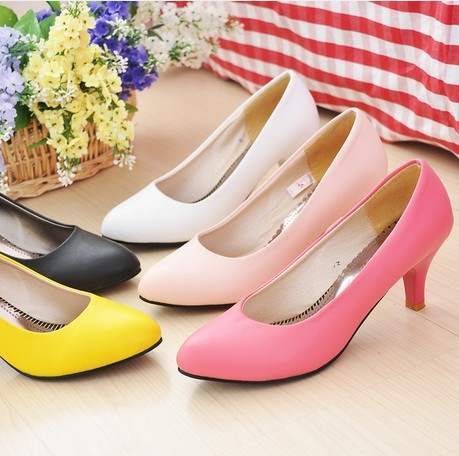 Гаджет  Can be customized big yards women genuine leather shoes sexy simple patent leather  high-heeled shoes None Обувь
