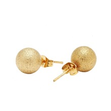 2016 Fashion Women Jewelry Gold Plated Ball Stud Earrings With Stainless Steel Balls Gold Women Double Earrings Brincos bola(China (Mainland))