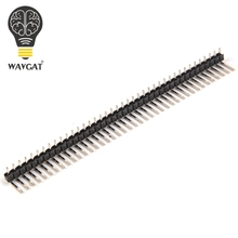 Buy 10 Pcs New 40Pin 2.54mm Single Row single pin curved Pin Header Connector Strip Curved Needle Arduino Electronic Components for $1.19 in AliExpress store