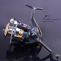 Brass Carp Spinning Fishing Reel 5.2:1 Salt Water Wheel Trolling Coils Line Roller Carretilha Pesca 9BB 5.5:1