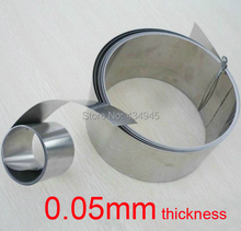 0.05mm Thickness 100mm Width 5meters Stainless Steel Strap ,ss304 Spring Sheet, leaf spring Plate,stainless foil Thin Tape(China (Mainland))