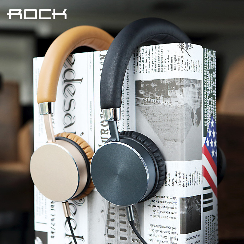 Rock Aluminum Stereo 3.5MM Plug Headset Headphone Smartphone Earphone For Samsung Galaxy S6 For Computers For iPad<br><br>Aliexpress