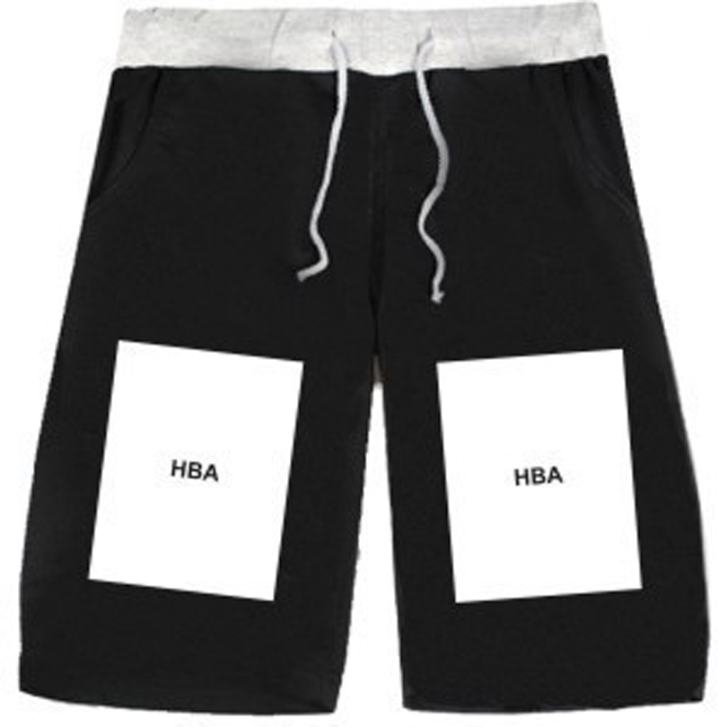 HBA Shorts Couple 5 Colors Casual 4XL Hood BY Air HBA Big Box European and American PYREX Basketball Hip-Hop Brand Shorts(China (Mainland))