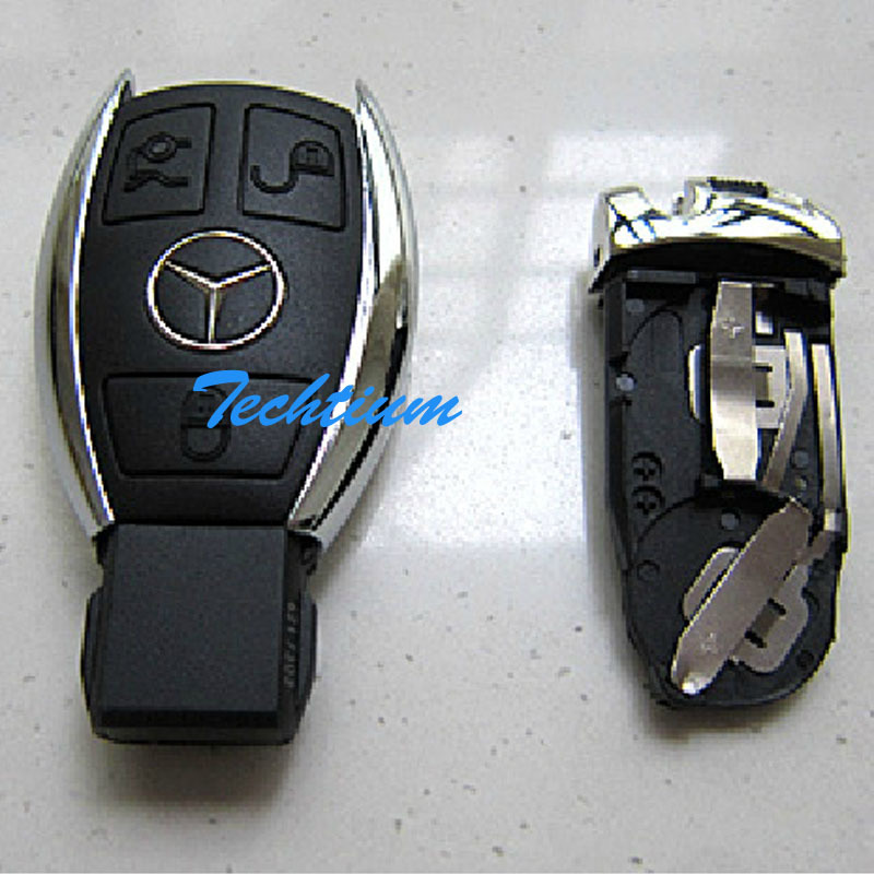 Buy smart 3 button remote key case for Mercedes benz keys replacement cost