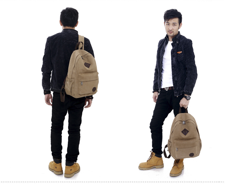 New Arrived Men s Swagger Bag Vintage Canvas Backpack Rucksack Laptop Shoulder Bag Men Travel Bags