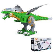 Dinossauros Brinquedos Chocante elétrica Interativo Falar Andando de Pulverização de Fogo Dragão Dinossauro Robô Com Luz e Som Brinquedos Para As Crianças(China)