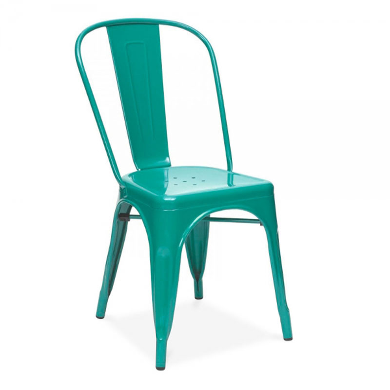 Free Shipping Metal Steel Powder Coated Side Chair(China (Mainland))