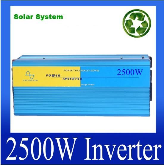 HOT SALE!! 2500W Off Grid Inverter Pure Sine Wave Inverter DC12V or 24V or 24V input, Wind Solar Power Inverter<br><br>Aliexpress