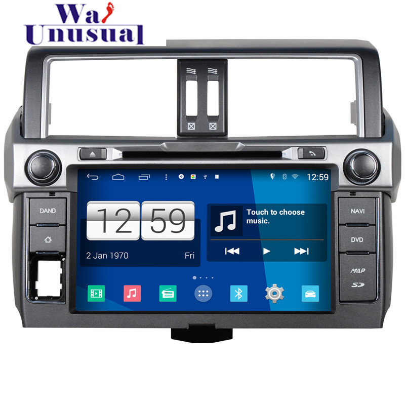 2016 Newest Car Styling 1024*600 HD Quad Core 16G 9 inch Pure Android 4.4.4 Car DVD Player for Toyota Prado 2014 GPS Navigation(China (Mainland))