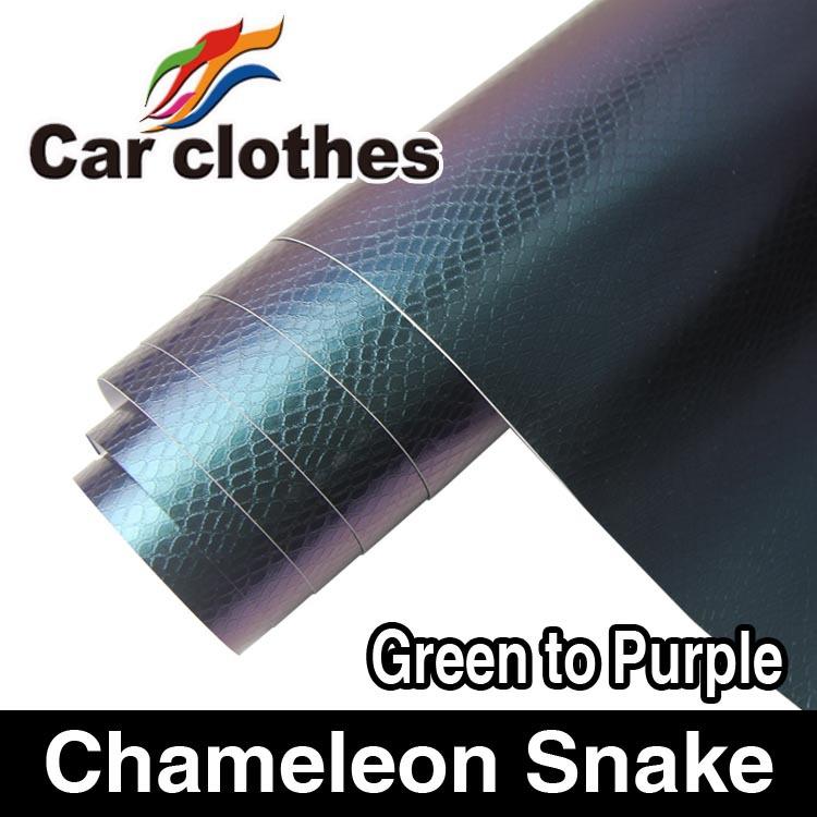 Guaranteed 100% 1.52X30m Air free bubble snake skin film change color(China (Mainland))