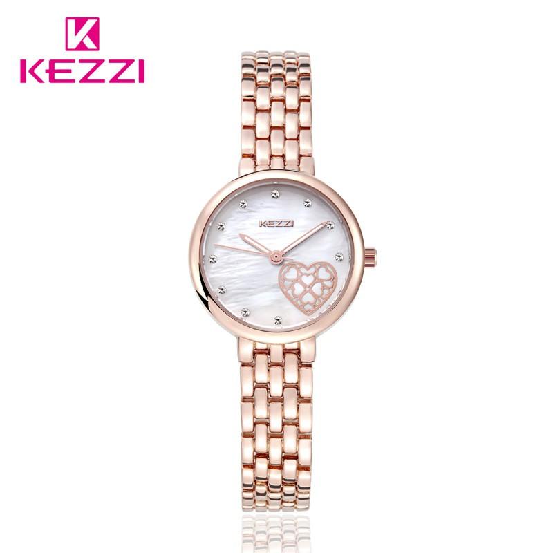 Новая Мода Luxury Brand Женщины Платье Часы Кварцевые Браслет Из Розового Золота/Серебристый Смотреть KW1453 Водонепроницаемый Relógio Feminino