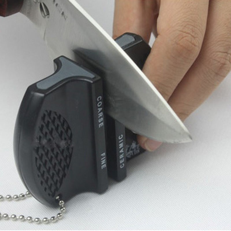 Ceramic Rod Tungsten Steel Camp Pocket Kitchen Knife Sharpener