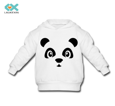 Cute Panda Logo Hoodies 2015 Newest Casual Kids Hooded Sweatshirts High Quality Personal Custom Graphic Pullovers For 3-14 ages(China (Mainland))
