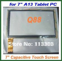 10pcs 7 inch Capacitive Touch Screen Digitizer Panel Replacement for 7inch Allwinner A13 A23 A10 Q8 Q88 Free Shipping(China (Mainland))