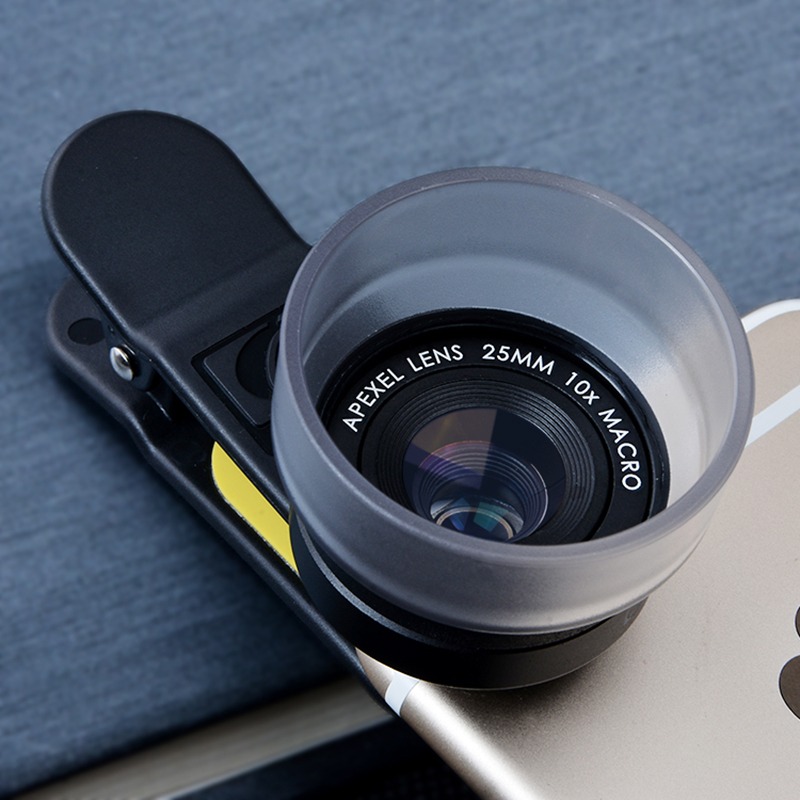 APEXEL HD 25mm super macro lens, universal detachable 10x super macro photography lenses for iPhone Samsung Xiaomi IOS android(China (Mainland))
