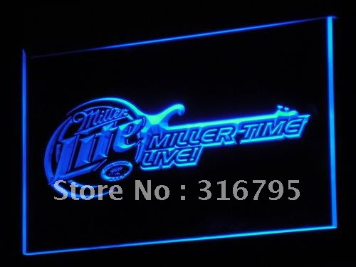 a017-b Miller Lite Beer Bar Guitar LED Neon Light Signs(China (Mainland))