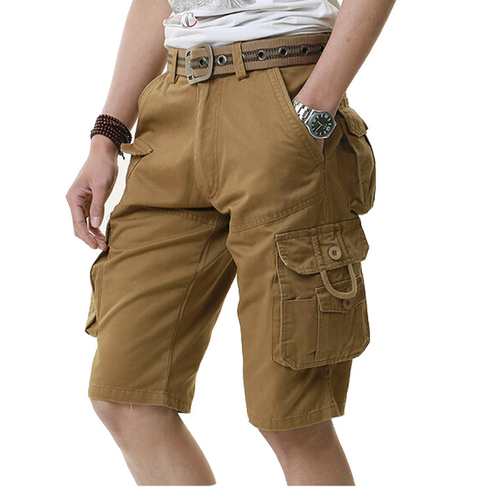 2015 summer new men's overalls 100% cotton high quality men's casual fashion shorts military Outdoor sports training shorts(China (Mainland))