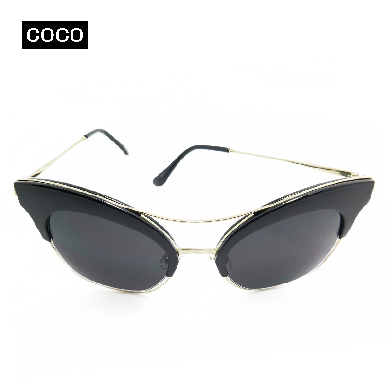 2015 new Sunglasses women Black Sun glasses cat eye Brand Designer Coating polarized women sunglasses Fashion Classic Vintage(China (Mainland))