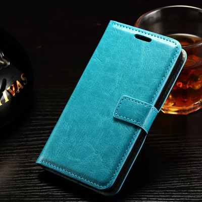 10pcs/lot Luxury Paint Edge Crazy Horse Pattern PU Leather Case Back Cover For LG Leon H340 With Photo Frame