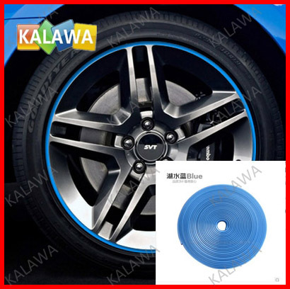 8 Meter/1 Roll Blue color 3M Car Wheel Sticker Styling Strip 3M Modified Trim Strip Scratch Car decoration Free shipping TTT(China (Mainland))