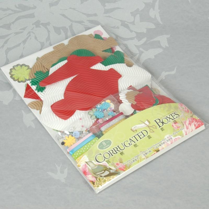 Сделай сам Скрапбукинг бумага украшения мини гофрированная бумага Упаковка коробка