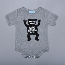 Baby Girl Boy Rompers Brands monster printing fashion long sleeve Newborn YOU'RE SO CUTE jumpsuit nununu - Kids1688 store