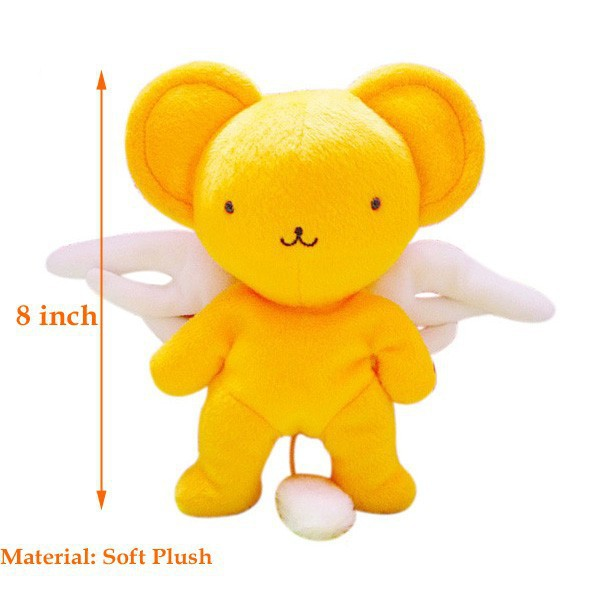 "Anime Cartoon Cardcaptor Sakura Kero Plush Toy Soft Stuffed Doll 8"" 20CM Kid's Best Gifts Lovely Happy Kero Toy Free Shipping(China (Mainland))"
